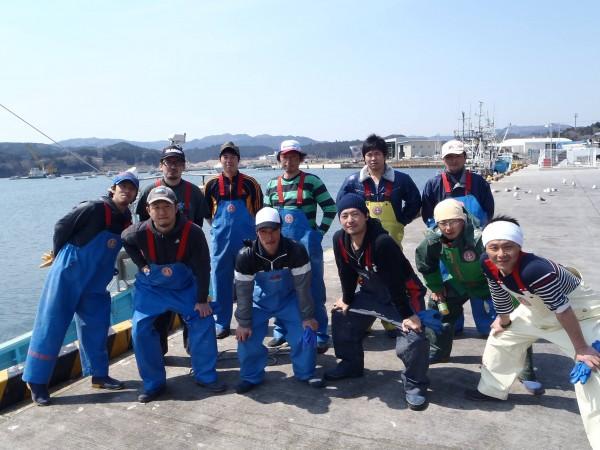 志津川漁協青年部の面々